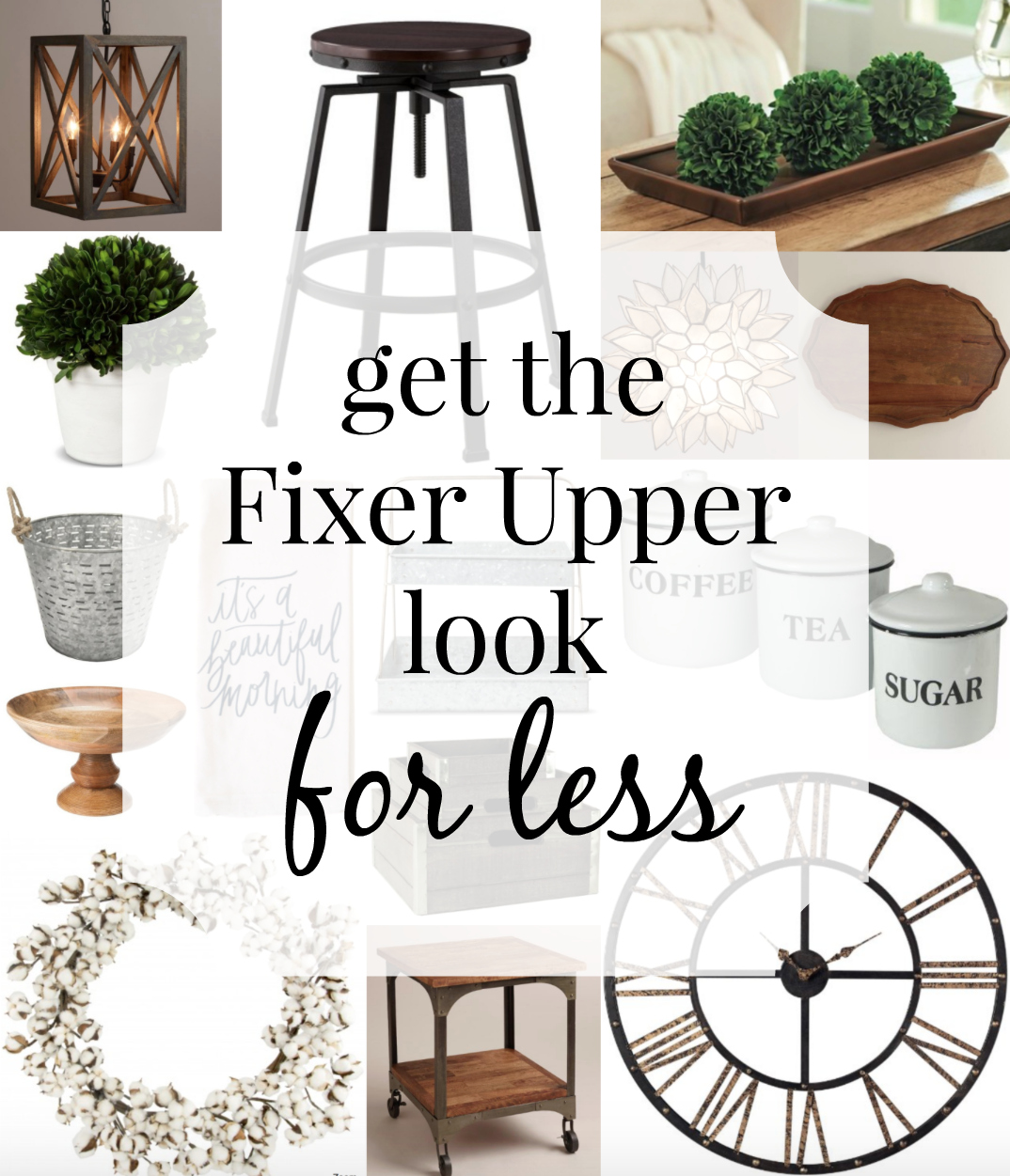 Get The Fixer Upper Look For Less