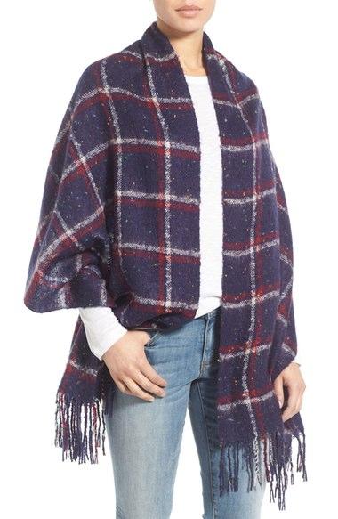 oversize speckled blanket scarf