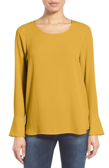 Bell Cuff High/Low Blouse